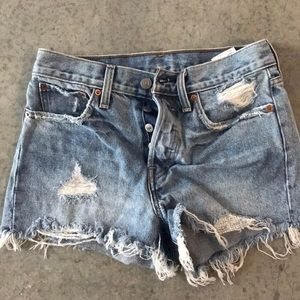 Vintage style high waisted Levi's shorts